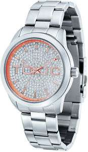Mens Silver Stainless Bling Watch Toxic TXL 30040 F DB