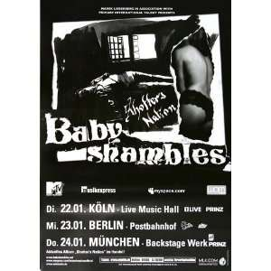 Babyshambles   Shoffer Nation 2008   CONCERT   POSTER from