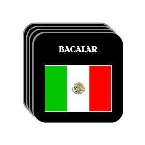 Mexico   BACALAR Set of 4 Mini Mousepad Coasters