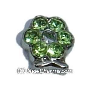 Flower Birthstone August Floating Locket Charm Jewelry