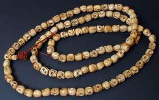108 SKULL Bead Yak BONE Prayer Bead Tibetan Buddhist