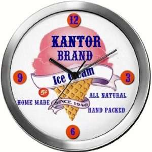 KANTOR 14 Inch Ice Cream Metal Clock Quartz Movement