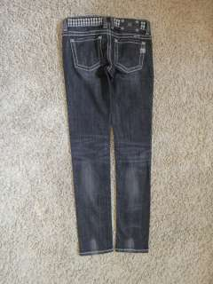 Women Miss Me diamond crystal stud true Skinny Jeans r&r coh tr Sz 27