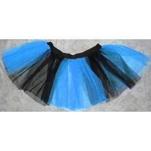 Blue Black Mini Tutu Skirt Petticoat Punk Rave Cyber Dance Fancy Dress