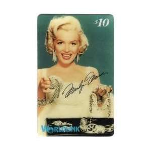 Marilyn Collectible Phone Card $10. Marilyn Monroe In White Dress