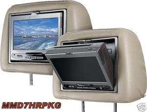 NEW Audiovox MMD7HRPKG 7 Universal Headrests/Monitors