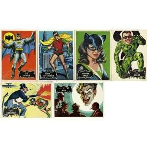 1966 Topps Batman Black Bat Complete Set (55