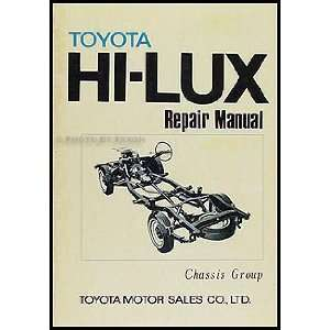 Toyota Pickup Chassis Repair Shop Manual Original No. 98415 Toyota