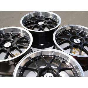 18 ADR M Sports Black with Polish Lips Wheels, A Set of 4