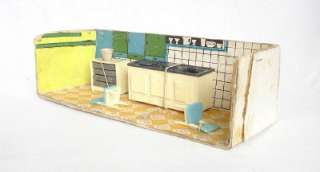 VINTAGE TOY KITCHEN DOLLHOUSE DOLL HOUSE PLAY SET