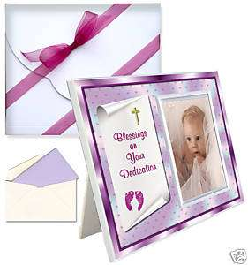 Baby Blessing Dedication Picture Frame Gift