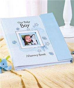 The Baby Boy Memory Book makes a wonderful gift for baby showers or
