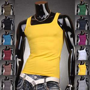 3mu Designer Mens Shirt Vest Undershirt Tank Top Slim Sexy XS S M L XL