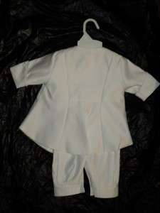 Baby Boys White Christening Baptism Suit/XS/ 0 3 MONTHS