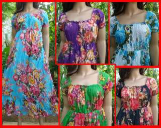 Summer halter Boho beach hippie floral sundress M L XL