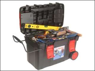 FAITHFULL WHEELED MOBILE TOOL CHEST WITH TRAY   TOOLBOX