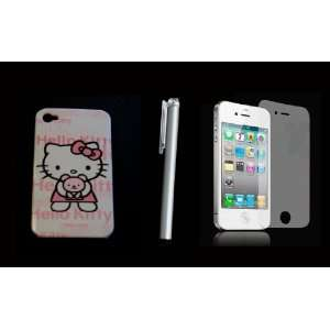 hello kitty iphone 4 case cover +LCD screen + stylus