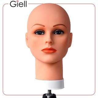 Celebrity Cosmetology Mannequin Head Bald with Make Up