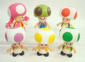 super mario brothers figures TOAD TOADETTE TOADSWORTH