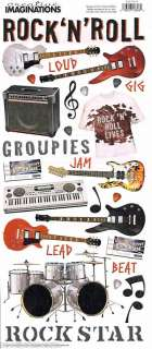 CI Rock & Roll Music Guitar Drums Scrapbooking Stickers