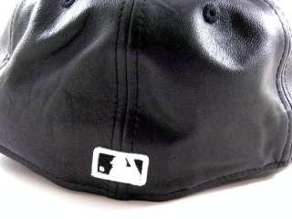 Era New York Yankees Leather Black/White Baseball Winter Hat Cap Men