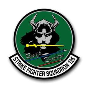US Navy Strike Fighter Squadron 125 Decal Sticker 3.8