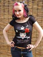 Rockabella Tattoo Shirt Batcave Emo Rockabilly Punk