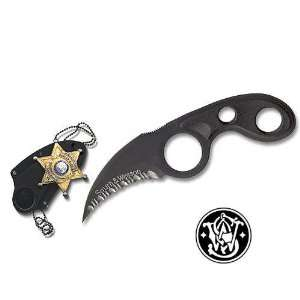 Smith and Wesson Neck Knife Black Badge