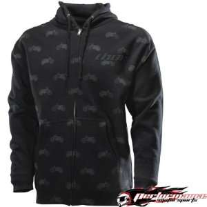 THOR MX BALEY BLACK/GREY LARGE/LG ZIP HOODY Automotive
