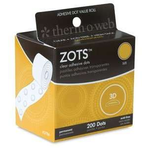 Therm O Web ZOTS Clear Adhesive Dots   3D ZOTS, Pack of