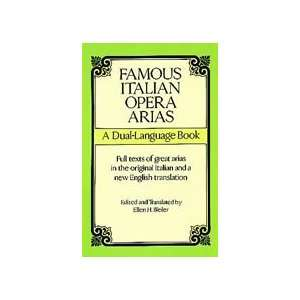 06 291588 Famous Italian Opera Arias   Music Book Musical Instruments