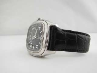 Mens David Yurman Belmont Automatic Black Leather Watch