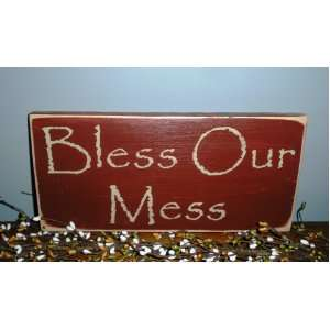 BLESS OUR MESS Rustic CUSTOM Country Primitive Wall Decor
