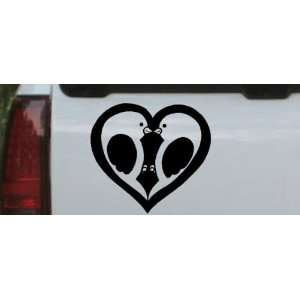 Black 38in X 19.0in    Lovebirds Kissing In Heart Animals