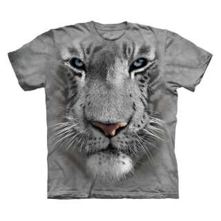 Mountain T Shirt   White Tiger Face   The Mountain Tee Shirt   Animal