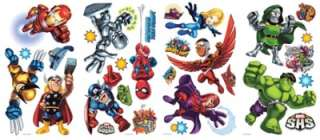 SUPER HERO SQUAD WALL DECALS Marvel Room Stickers Boys Bedroom Decor