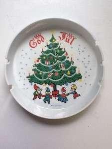 Berggren GOD JUL   ASHTRAY with Christmas Tree and Elves