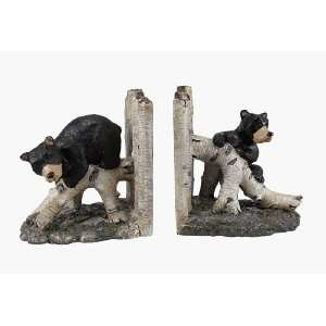 Bear Birchwood Birch Wood Bookends Book End Figurine