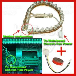 10 Neon Green Computer DIY Desktop Case LED LIGHT KIT