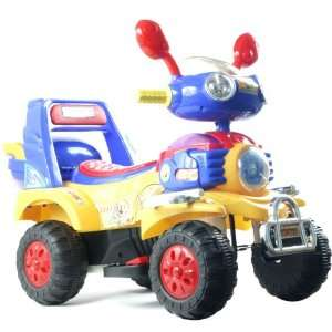 EZ RidersT Battery Operated 4 Wheeler   Blue/Yellow/Red Electronics