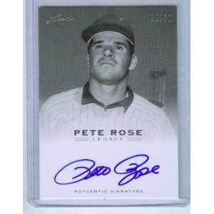 Pete Rose Autograph 2011 Leaf Legacy Authentic Signature