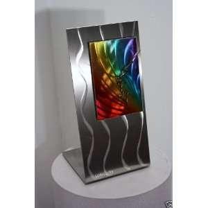 Metal Rainbow Art Desk Clock, Design by Wilmos Kovacs: Home & Kitchen