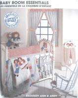 Baby Room Home Dec Pattern 8549 Raggedy Ann Andy New