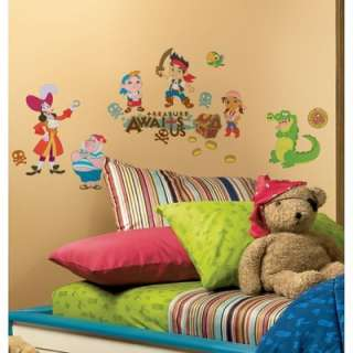 JAKE AND THE NEVERLAND PIRATES wall stickers 32 decals Captain Hook