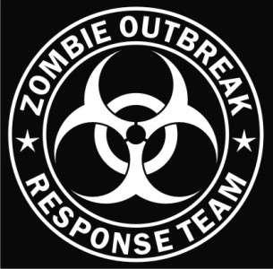 Zombie Outbreak Response Team Vinyl Decal Sticker