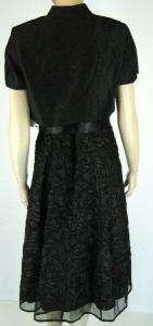 RICHARDS Womens Black Dress w/Bolero Jacket Sz 10 New 5361