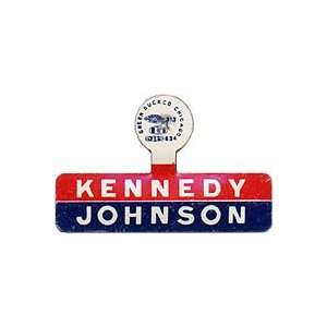 Tab promoting John Kennedy for president and Lyndon Johnson for vice