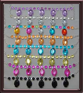 NecklaceCHOOSE a COLORClear,Pink,Black,Purple,Blue,Yellow