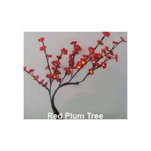 Plum Tree Red   60 LED Lights, 24 Tall   Battery Operated