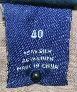 Daniel Cremieux sz 40 Mens Brown Shorts Silk Linen Dress Shorts DE17